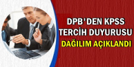 DPB'den KPSS Tercih Duyurusu