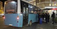 Erzurum'da Freni Boşalan Halk Otobüsü Durağa Daldı! 4 Kişi Yaralandı
