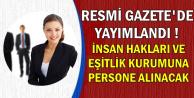 İnsan Hakları ve Eşitlik Kurumu Personel Alacak