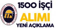 İŞKUR'dan TTK 1500 İşçi Alımı ve Başvuru Süreci Açıklaması