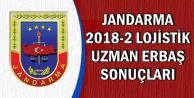 Jandarma 2018-2 Lojistik Uzman Erbaş Alımı Sonuçları Açıklandı