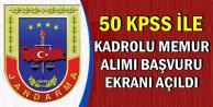 Jandarma 50 KPSS ile Memur Alımı Başvuru Ekranı Açıldı (Kadro Dağılımı)