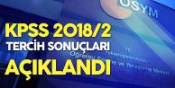 KPSS 2018 2 Tercih Sonuçları Açıklandı ( Yerleştirme Sonuçları En Yüksek ve En Düşük KPSS Puanları)