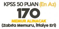 KPSS En Az 50 Puan ile Ortaöğretim, Önlisans, Lisans Mezunlarından Memur Alınacak (İtfaiye Eri - Zabıta Memuru)