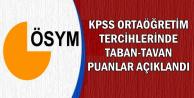 KPSS Lise Tercih Sonuçlarına Göre Taban ve Tavan Puanlar Açıklandı