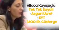 Nurhayat Altaca Kayışoğlu'ndan 'Asgari Ücret, EYT, 3600 Ek Gösterge' Çağrısı
