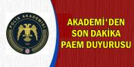 Polis Akademisi'nden PAEM Duyurusu