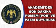 Polis Akademisi'nden PAEM ve POMEM (PÖH) Eğitim ve Sınav Duyurusu