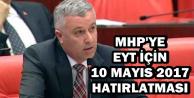 TBMM'de MHP'ye EYT İçin 10 Mayıs Hatırlatması