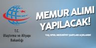 Ulaştırma ve Altyapı Bakanlığı Memur Alımı Yapacak (Mezuniyet, Yaş , KPSS Şartları Açıklandı)