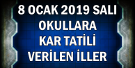 8 Ocak 2019 Salı Okulları Tatil Edilen İller (Ankara, İstanbul Okullar Tatil mi?)