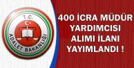 Adalet Bakanlığı 400 İcra Müdür Yardımcısı Alım İlanı Yayımlandı