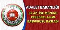 Adalet Bakanlığı En Az Lise Mezunu Personel Alımı Başvurusu Başladı