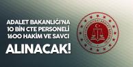Adalet Bakanlığı'na 11600 Yeni Personel Alınacak