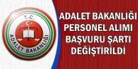 Adalet Bakanlığı Personel Alımı Başvuru Şartı Değişti