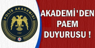 Akademi'den Yeni PAEM Duyurusu