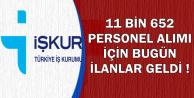 Bugün Yayımlandı: 8 Şehirde Kamuya İŞKUR'dan 11 Bin 652 Personel Alımı (TYP)