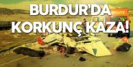 Burdur'da Korkunç Kaza : 2 Ölü, 1 Yaralı