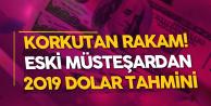 Eski Hazine Müstaşarı Eğilmez'den Korkutan 2019 Dolar Tahmini