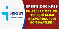 ETİ KPSS'siz-60 KPSS ile 198 İşçi Alımı Başvuru Son Günü: 2 Ocak 2019