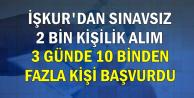 İŞKUR'dan 2 Bin Kişilik Personel Alım İlanı: 3 Günde Başvuru Sayısı 10 Bini Geçti