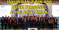 İŞKUR'dan 7400 Türk Personeli Alımı Açıklaması