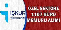 İŞKUR'dan Özele 1107 Büro Memuru Alımı