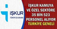 İŞKUR Kamuya ve Özele Türkiye Geneli 35 Bin 523 Personel Alıyor
