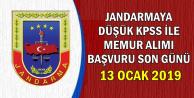 Jandarma Düşük KPSS ile Memur Alımı Son Başvuru: 13 Ocak 2019
