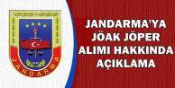 Jandarma'ya JÖAK JÖPER Alımı Hakkında Açıklama