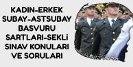 Kadın-Erkek Subay-Astsubay Alımı Başvuru Şartları-Şekli ve Çıkmış Sorular