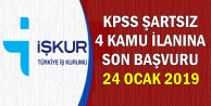 KPSS'siz 4 Kamu İlanına Son Başvuru: 24 Ocak 2019