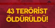 Milli Savunma Bakanlığı'ndan Açıklama: Biri Lider Kadrodan 43 Hain Öldürüldü