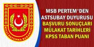MSB Pertem'den Astsubay Duyurusu (Sonuçlar-Mülakat Tarihleri-KPSS Taban Puanı)