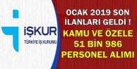 Ocak 2019'un Son İlanları Geldi: İŞKUR'dan 51 Bin 986 Personel Alımı