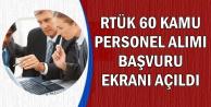 RTÜK Kamu Personeli Alımı Başvuru Ekranı Açıldı