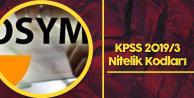 KPSS 2019/3'teki 3301 , 4984 ve 3318 Nitelik Kodu