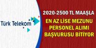 2020-2500 TL Maaşla Türk Telekom Personel Alımı Son Başvuru: 25 Ocak 2019