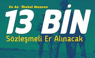 13 Bin Sözleşmeli Er Alımı için Rekor Başvuru Bekleniyor