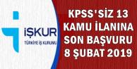 13 KPSS'siz Kamu İlanına Son Başvuru: 8 Şubat 2019 (Belediye-SYDV-İl Özel İdaresi)
