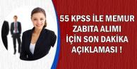 55 KPSS ile Zabıta ve Düz Memur Alımı İçin Son Dakika Uyarısı-En Az Lise