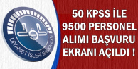 Diyanet 50 KPSS ile 9500 Kamu Personel Alımı Başvuru Ekranı Açıldı