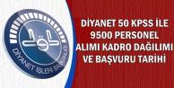 Diyanet 9500 Kamu Personel Alımı Kadro Dağılımı ve Başvuru Tarihi