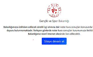 Gençlik ve Spor Bakanlığı İşçi Alımı Kura Sonuçları Duyurusu!