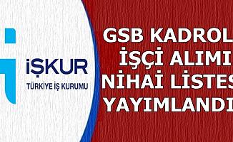Gençlik ve Spor Bakanlığı Nihai Listeleri İŞKUR'dan Yayımlandı