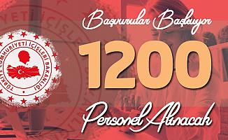 İçişleri Bakanlığı 1200 Personel Alımı Yapacak! Başvurular Yarın Başlıyor (Başvuru Linki, Şartları ve Diğer Detaylar)