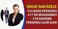 İŞKUR'da 1270 Ön Muhasebeci, Danışma ve Büro Personeli Alım İlanı
