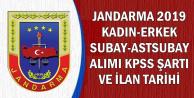 Jandarma Kadın-Erkek Subay-Astsubay Alımı Branşları-KPSS Şartı ve İlan Tarihi