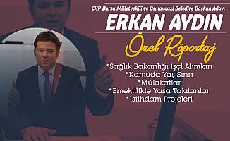 Osmangazi Belediye Başkan Adayı Erkan Aydın'la Söyleşi (İşçi Alımları, Mülakat, İstihdam Projeleri, EYT, Kamuya Alımlarda Yaş Sınırı)