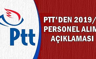 2019 PTT Personel Alımı Açıklaması-KPSS Şartsız